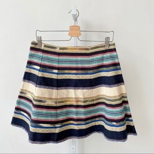 Chloe Oliver Hayley Stripe Skirt Anthropologie 6